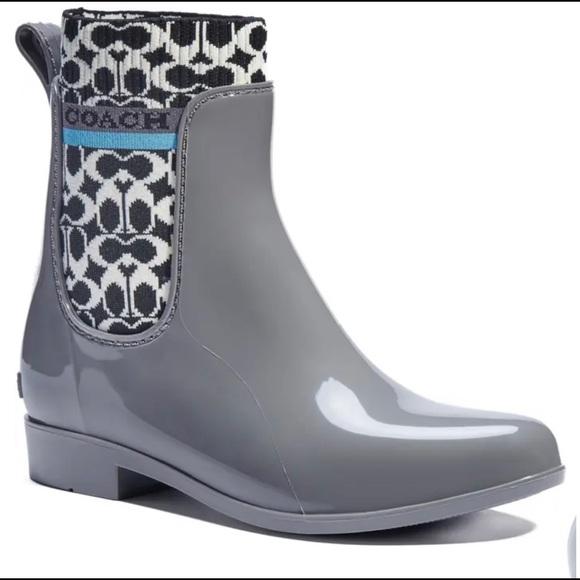 COACH ankle rain boots